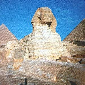 The Great Sphinx, Giza, Egypt.